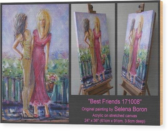Best Friends 171008 Wood Print
