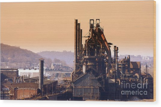 Bethlehem Steel  Sold 3 Wood Print