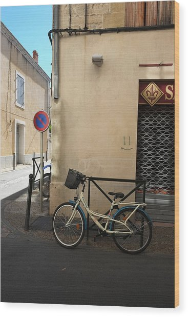 Bicycle Aigues Mortes France Wood Print
