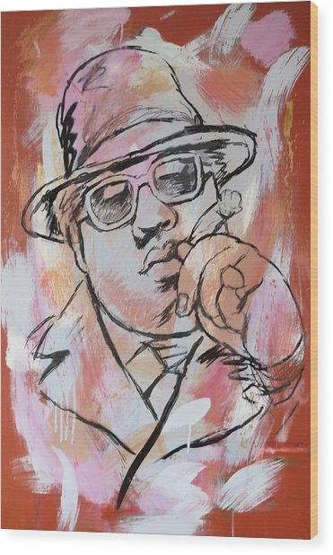 Biggie Smalls Art Painting Poster Wood Print by Kim Wang