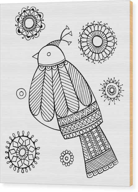 Bird Dove Wood Print