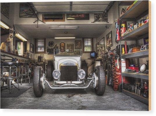 Birth Of A Roadster Wood Print