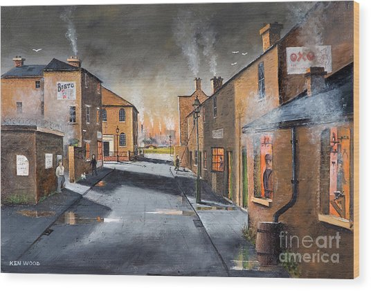 Black Country Village From The Boat Yard Wood Print