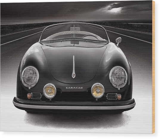 Black Porsche Speedster Wood Print