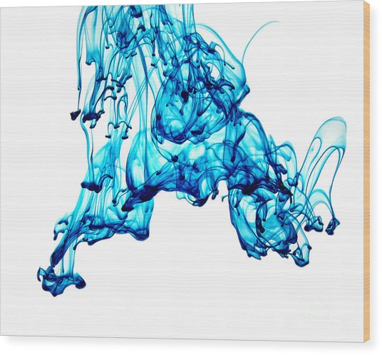 Blue Descent Wood Print