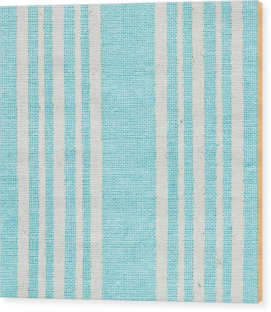 Blue Fabric Wood Print