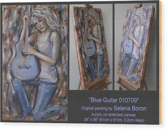 Blue Guitar 010709 Wood Print