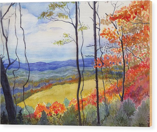 Blue Ridge Mountains Of West Virginia Wood Print