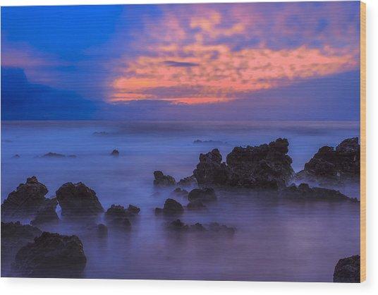 Blue Sunrise 1 Wood Print