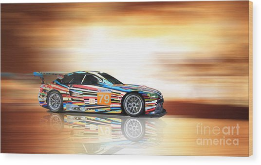 Bmw M3 Art Car Wood Print