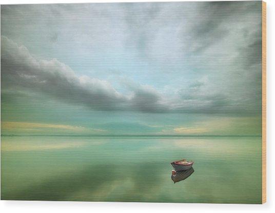 Boat... Wood Print by Krzysztof Browko