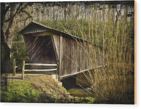 Bob White Covered Bridge Wood Print