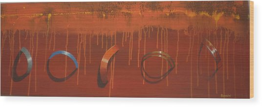 Bossini 5 Rings Wood Print by Clive Holden