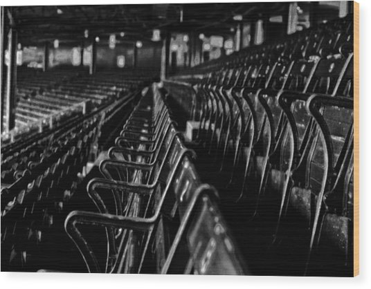 Bostons Fenway Park Baseball Vintage Seats Wood Print