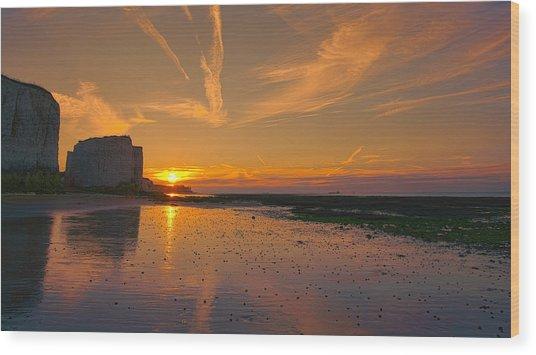 Botany Bay Sunset Wood Print