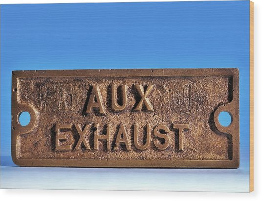 Brass Sign From The Titanic Wood Print by Patrick Landmann/science Photo Library