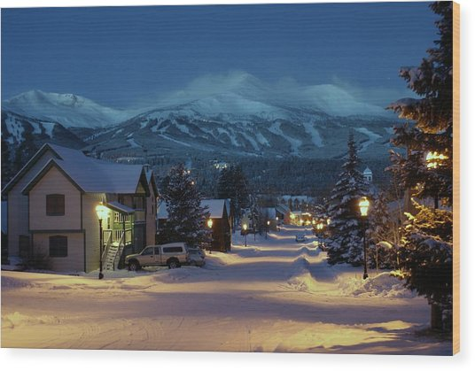 Breckenridge Colorado Morning Wood Print