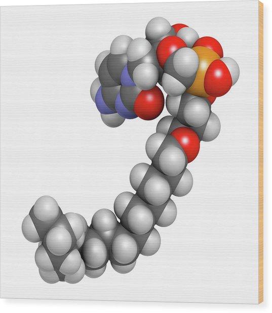 Brincidofovir Antiviral Drug Molecule Wood Print