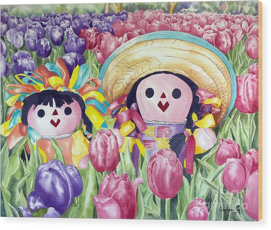 Brings May Flowers Wood Print