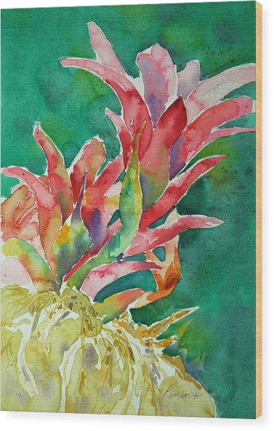 Bromeliad Wood Print
