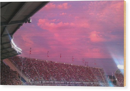 Bryant-denny Painted Sky Wood Print