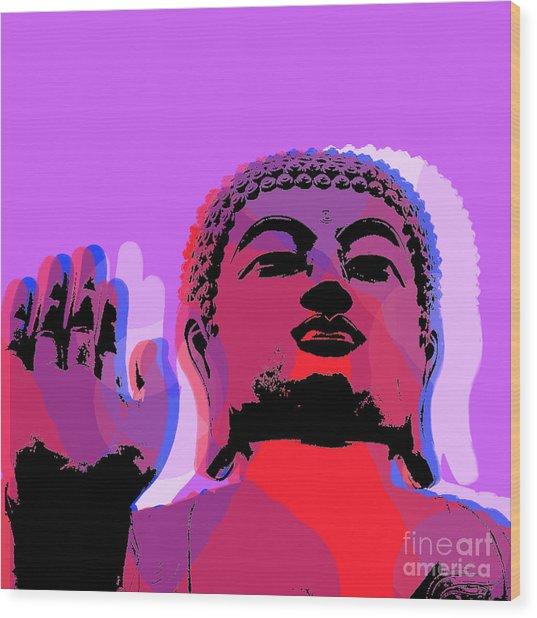 Buddha Pop Art - Warhol Style Wood Print