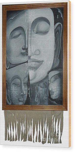 Buddish Facial Reactions Wood Print