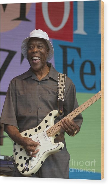 Buddy Guy Smiling Wood Print