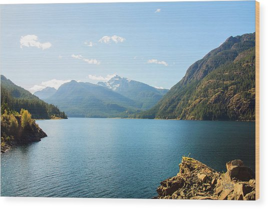 Buttle Lake 01 Wood Print