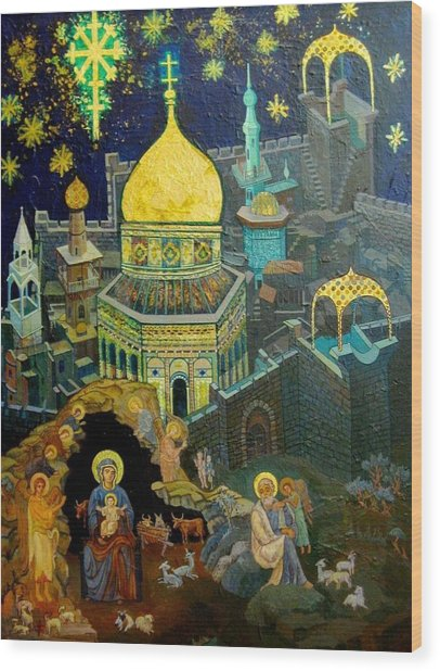 C03  The Nativity  Jerusalem Wood Print