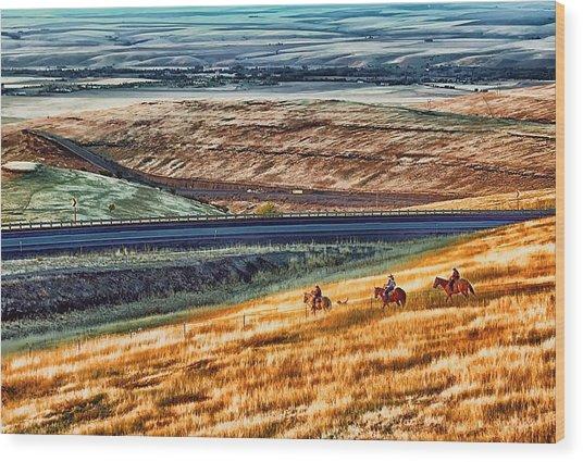Cabbage Hill Pendleton Oregon Wood Print