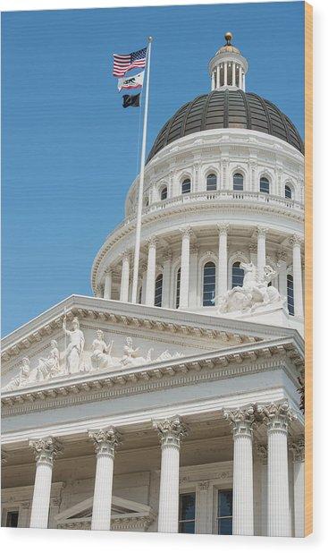 California State Capitol In Sacramento Wood Print