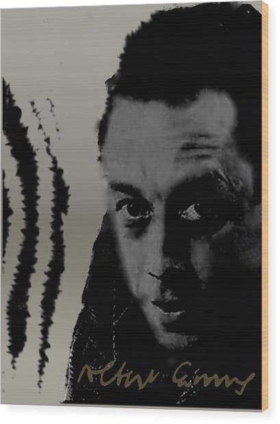 Camus Wood Print