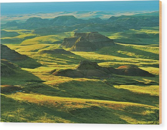 Canada, Saskatchewan, Grasslands Wood Print