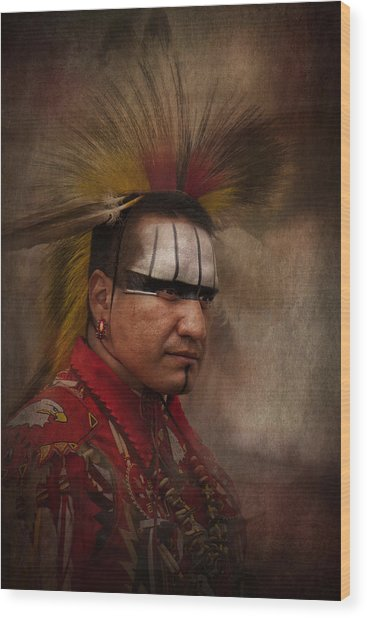 Canadian Aboriginal Man Wood Print