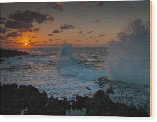 Cape Zampa Sunset Wood Print
