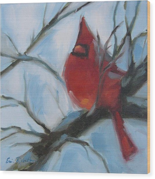 Cardinal Composed Wood Print