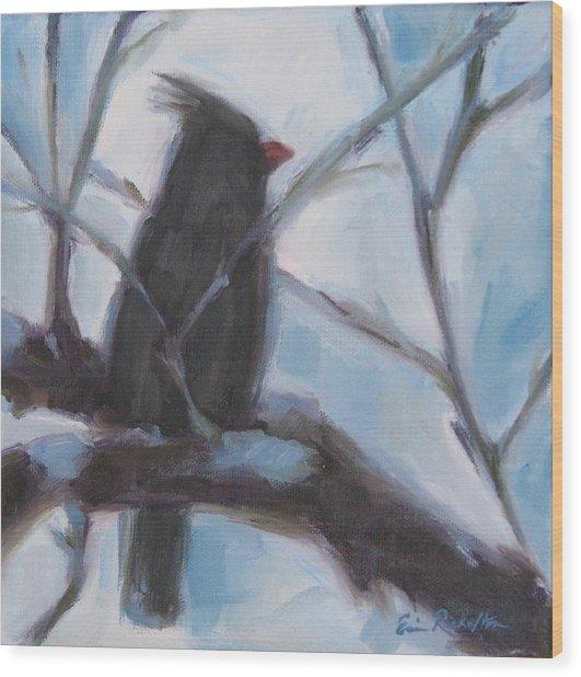 Cardinal Reposed Wood Print