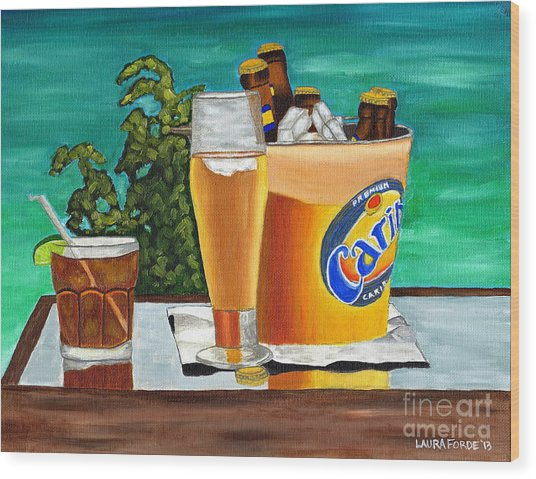 Caribbean Beer Wood Print