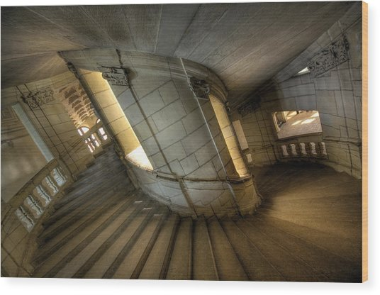 Castle Stairs Wood Print by Ioan Panaite