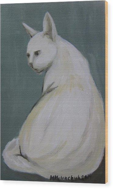 Cat 2014 Wood Print by Maria Melenchuk