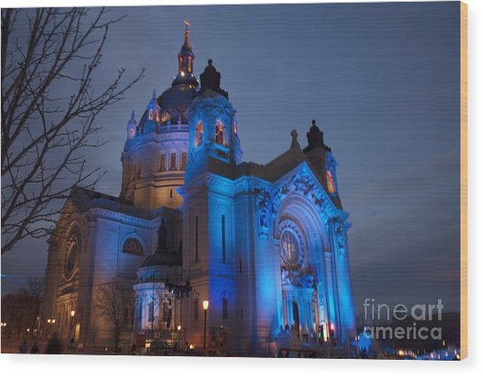 Cathedral Of Saint Paul - Crashed Ice Wood Print by Kevin Jack