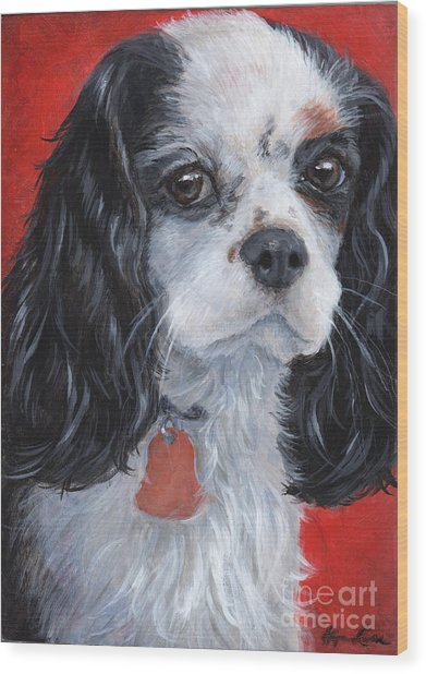 Cavalier King Charles Spaniel Wood Print by Hope Lane