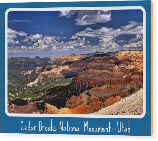 Cedar Breaks Nm Wood Print