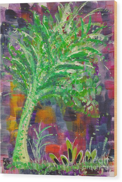 Celery Tree Wood Print