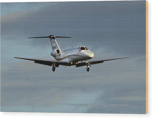 Cessna Citation 525b Wood Print