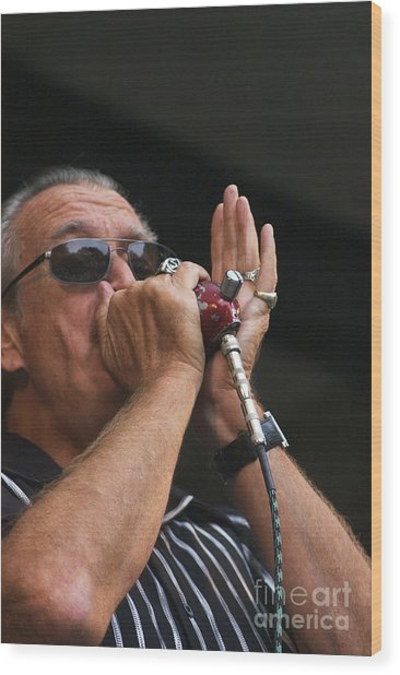 Charlie Musselwhite Wood Print