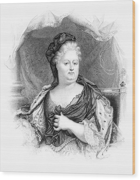 Charlotte-elisabeth Duchess Of Orleans Wood Print by Mary Evans Picture Library