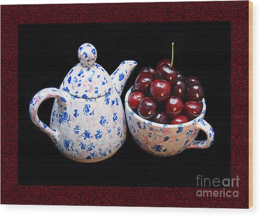 Cherries Invited To Tea 2 Wood Print