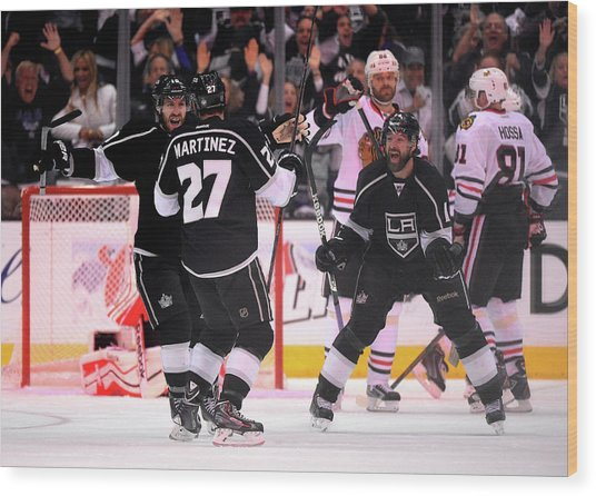 Chicago Blackhawks V Los Angeles Kings Wood Print